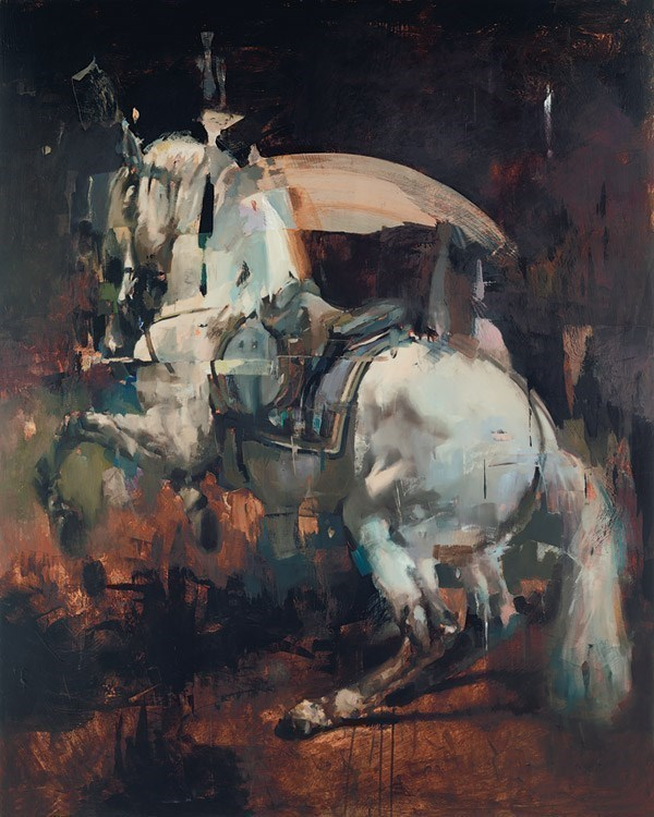 White Horse by Christian Hook - Limited Edition on Canvas sized 32x40 inches. Available from Whitewall Galleries